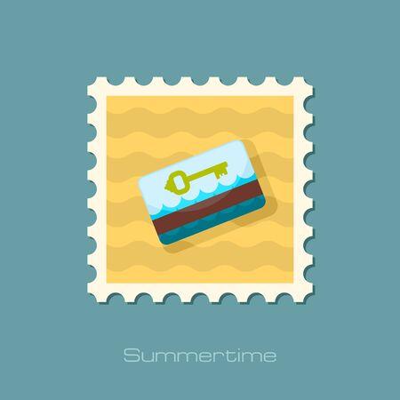 keycard: Electronic keycard vector stamp. Key card.