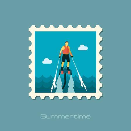 FlyBoard FlySurf vector stamp.