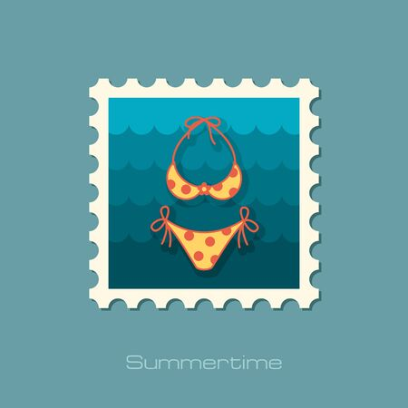 maillot de bain: Swimsuit vector stamp.