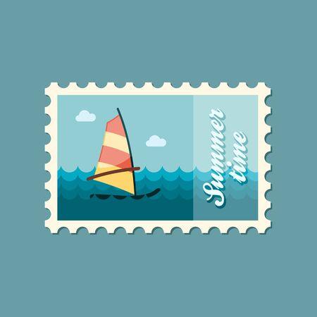 windsurf: Board Windsurfing vector stamp. Beach. Summer. Summertime. Holiday. Vacation, eps