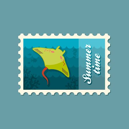 ramp: Ramp fish vector stamp. Beach. Summer. Summertime. Holiday. Vacation, eps