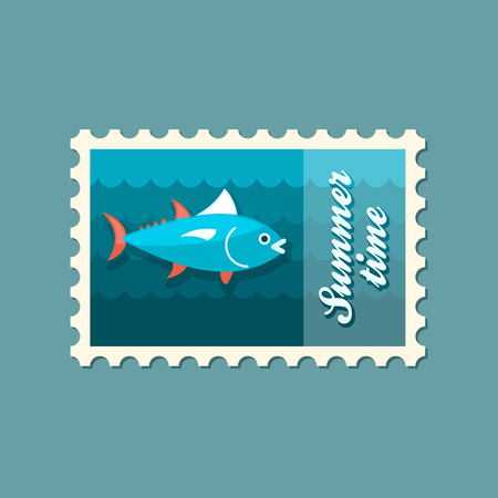 tunny: Tuna vector stamp. Fishing. Summer. Summertime. Holiday. Vacation, eps 10