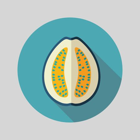 guava: Guava flat icon. Tropical fruit. Vector illustration, eps 10 Illustration