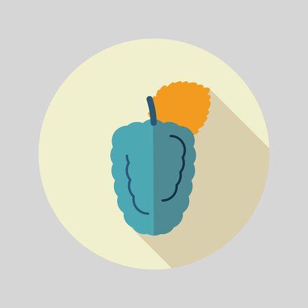 dewberry: Blackberry bramble flat icon. Berry fruit. Vector illustration, eps 10 Illustration