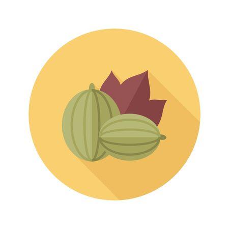Gooseberry flat icon. Berry fruit.