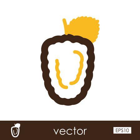 Blackberry bramble outline icon. Berry fruit.
