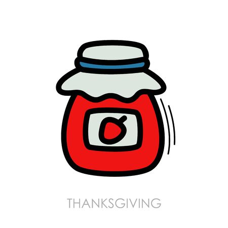 Jam jar icon. Harvest.
