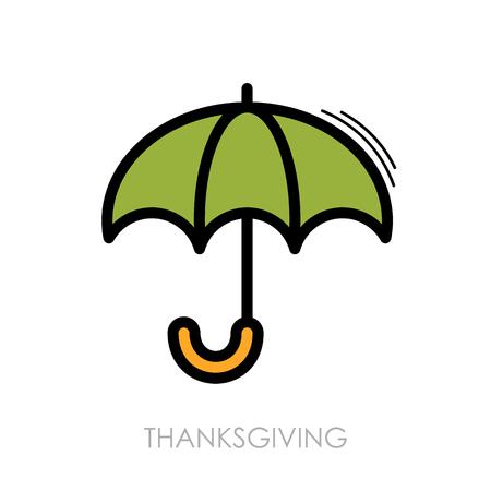 fall protection: Umbrella icon. Rain protection symbol. Thanksgiving