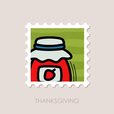 Jam jar stamp. Harvest. Thanksgiving vector