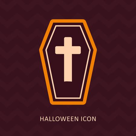 trumna: Halloween Coffin sylwetka ikona