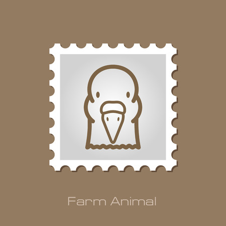 peace stamp: Dove outline stamp. Animal head symbol