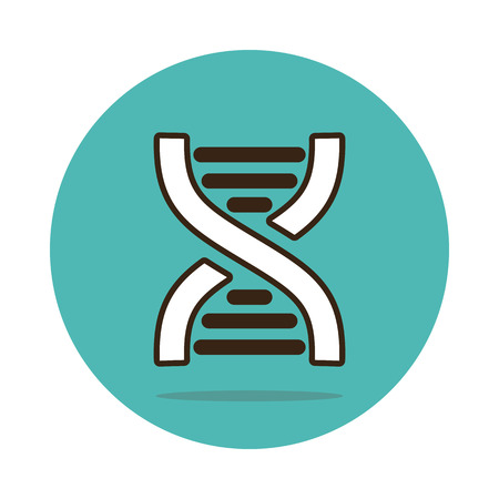 DNA flat icon. Medical vector,