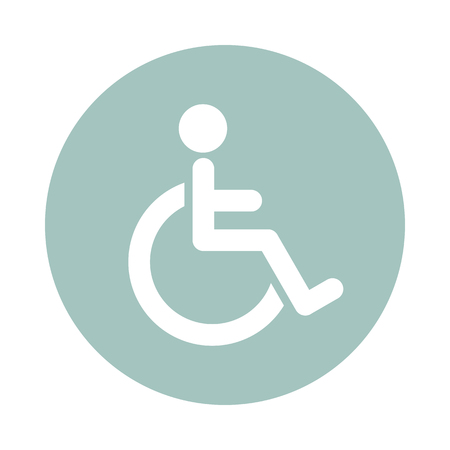 invalid: Wheelchair flat icon. Medical vector