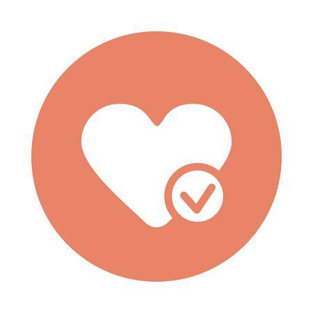 Heart flat icon. Medical vector