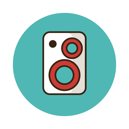 speakers: Music speakers icon vector illustration