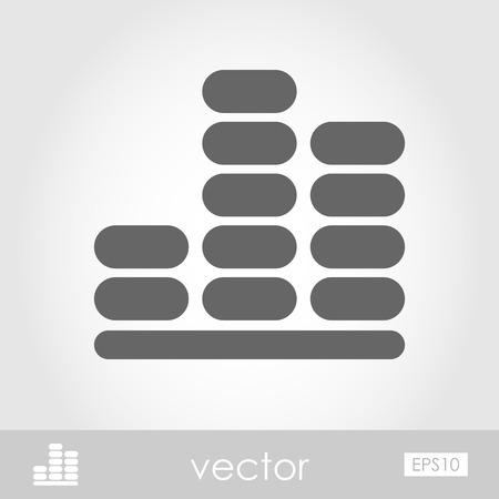 Equalizer icon. Music sound wave symbol,