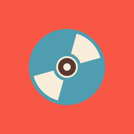 Vector CD or DVD icon vector illustration,