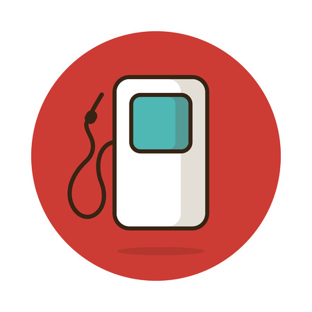 filling station: Gas Station vector icon, travel illustration ,