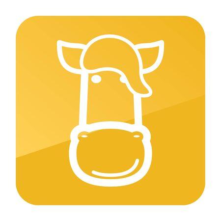 Horse icon. Farm animal vector illustration, Illustration
