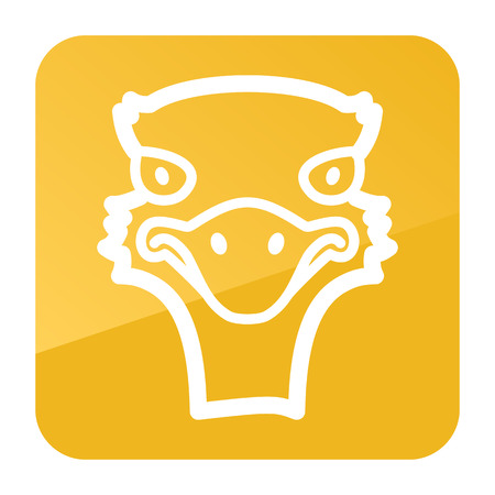 ostrich: Ostrich icon. Animal head vector symbol