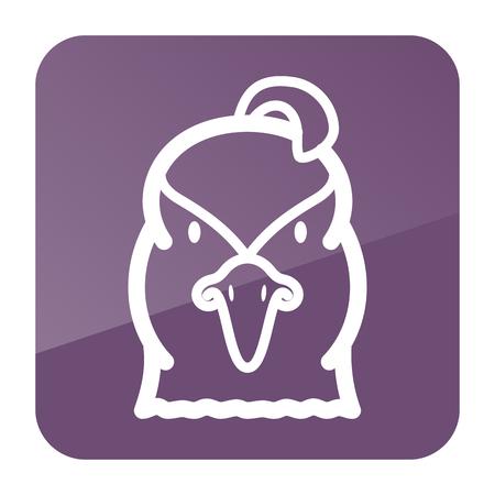 Quail icon. Animal head vector symbol Imagens - 67090639
