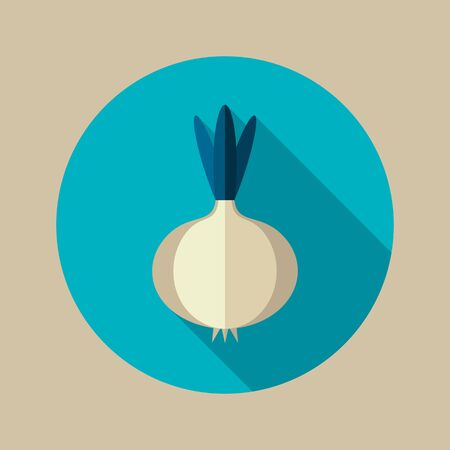 Onion flat icon. Vegetable vector illustration eps 10