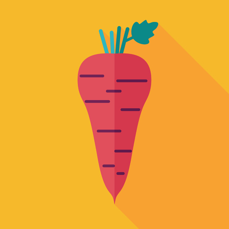 Parsnip root flat icon. Vegetable vector illustration