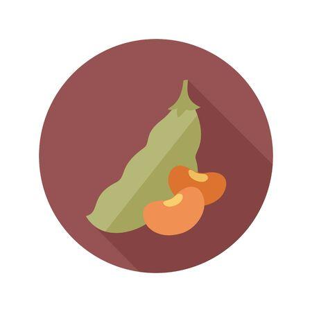 legume: Beans flat icon. Vegetable vector illustration eps 10