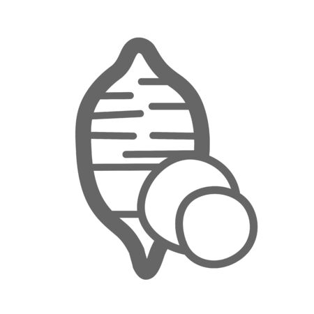 Sweet potato outline icon. Batata. Vegetable illustration
