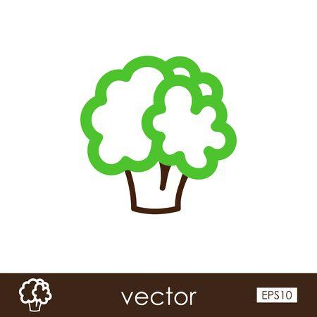 Cauliflower outline icon. Vegetable vector illustration eps 10 Ilustração
