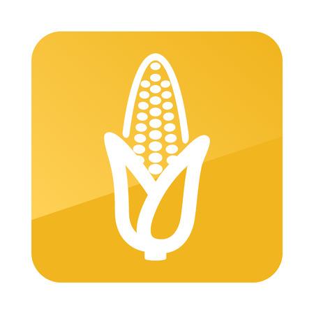 Corn outline icon. Vegetable vector illustration eps 10 Illustration