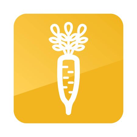 Daikon outline icon. Vegetable root vector illustration