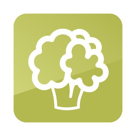 Cauliflower outline vegetable icon. Ilustração
