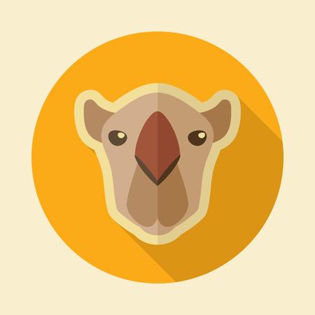 Camel flat icon. Animal head vector symbol eps 10