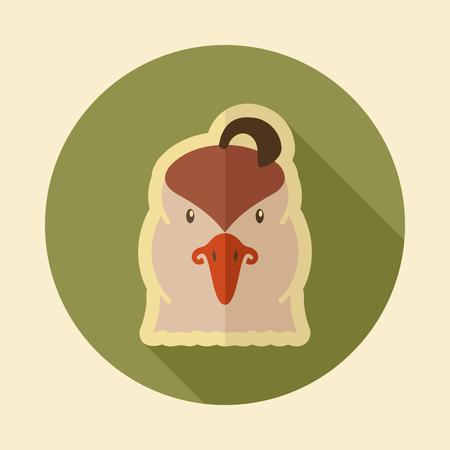 Quail flat icon. Animal head vector symbol eps 10 Imagens - 72561428