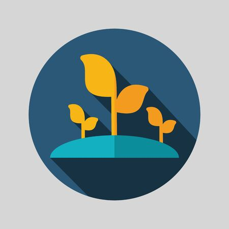 greenery: Plant sprout flat vector icon isolated, garden, eps 10 Illustration