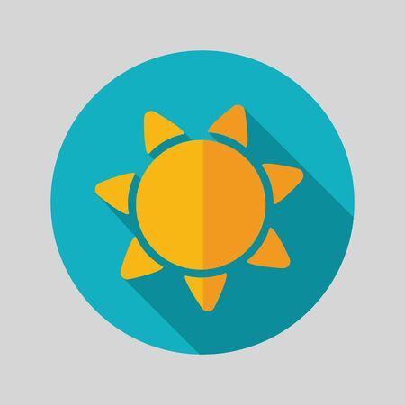 eps vector icon: Sun flat vector icon isolated, garden, eps 10 Illustration