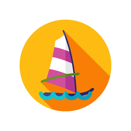 sailboard: Board Windsurfing vector icon. Beach. Summer. Summertime. Holiday. Vacation, eps 10