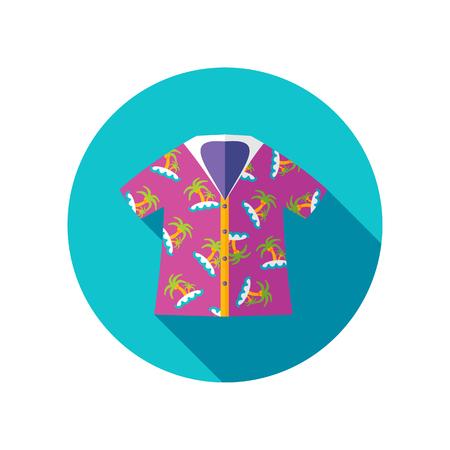 Hawaiian Shirt with palm tree vector icon. Beach. Summer. Summertime. Holiday. Vacation, eps 10 Illustration