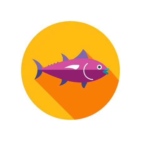 Tuna vector icon. Fishing. Summer. Summertime. Holiday. Vacation, eps 10
