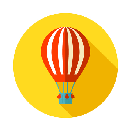 eps vector icon: Hot Air Balloon vector icon. Travel. Summer. Summertime. Holiday. Vacation, eps 10 Illustration