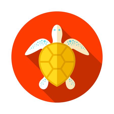 Sea turtle vector icon. Beach. Summer. Summertime. Holiday. Vacation, eps 10 Illustration