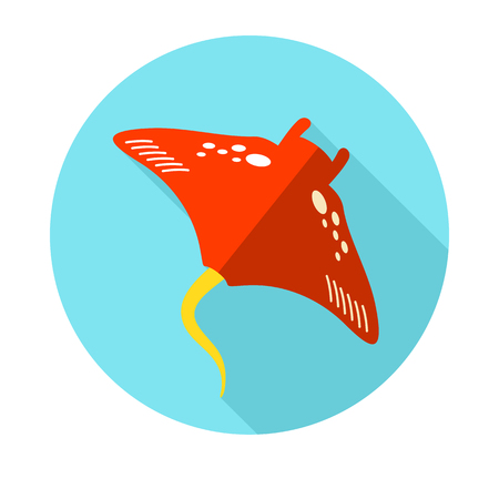 Ramp fish vector icon. Beach. Summer. Summertime. Holiday. Vacation, eps 10 Illustration
