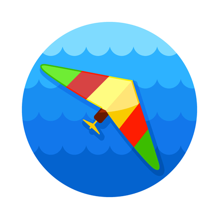 deltaplane: Hang Glider vector icon. Travel. Summer. Summertime. Holiday. Vacation, eps 10
