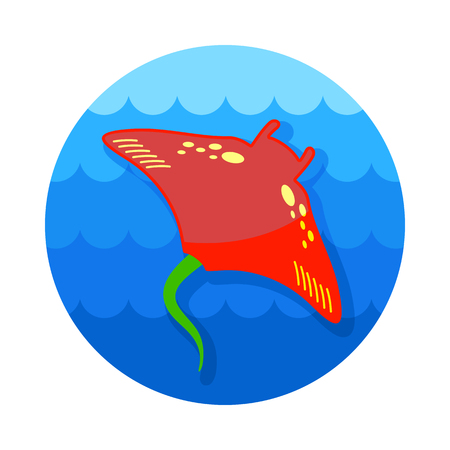 Ramp fish vector icon. Beach. Summer. Summertime. Holiday. Vacation, eps 10 Illustration