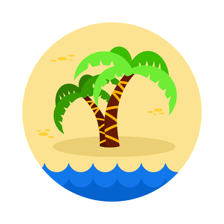 eps vector icon: Palm tree vector icon. Beach. Summer. Summertime. Holiday. Vacation, eps 10 Illustration