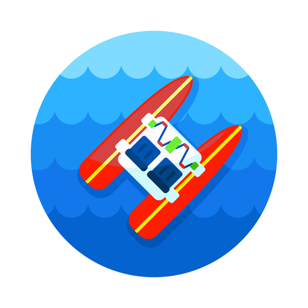 Pedalo boat beach vector icon. Beach. Summer. Summertime. Holiday. Vacation, eps 10