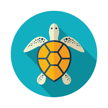 Sea turtle vector icon. Beach. Summer. Summertime. Holiday. Vacation,