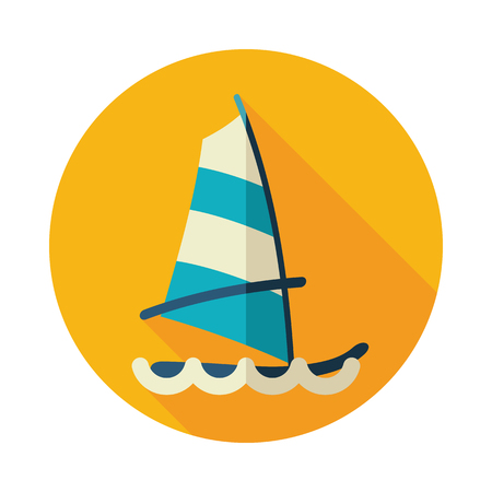 sailboard: Board Windsurfing vector icon. Beach. Summer. Summertime. Holiday. Vacation,