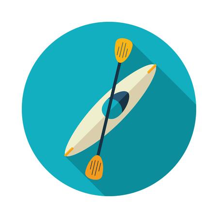 Kayak icon. Canoe vector. Beach. Summer. Summertime. Holiday. Vacation, Illustration